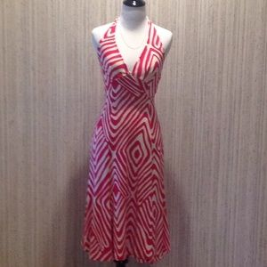 GORGEOUS SILK WRAP DRESS EUC